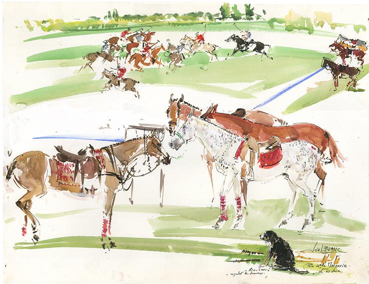 """les chevaux du polo à """"La Moinerie """""""
